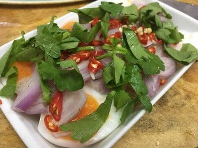 ไข่ต้มน้ำปลาพริกมะนาวคนอร์