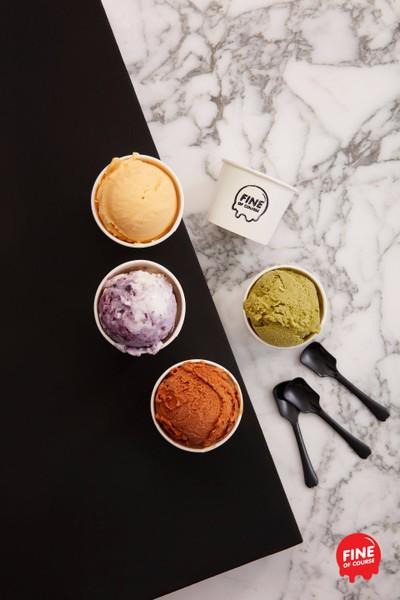 Ice cream • รสชาติเข้มข้นของไอศครีมโฮมเมท ที่ ร้านอาหาร Fine Of Course