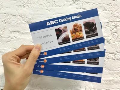 ฟรี! ทดลองเรียนทำอาหารและขนมกับ ABC Cooking Studio คอร์สละ 1,000 บาท  *โปรดอ่านเงื่อนไขการแลกอย่างละเอียด*