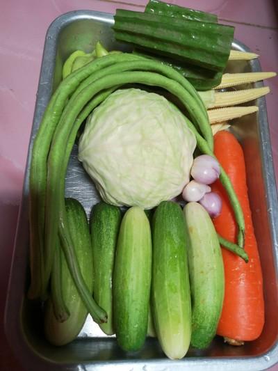 แกงกะทิผักรวม