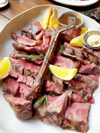 T Bone Steak at The Yard Restaurant