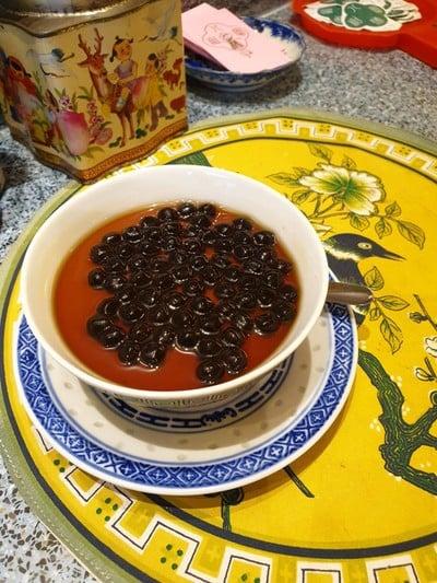 Bubble Milk Tea Pudding 118.- ที่ ร้านอาหาร Ba Hao Tian Mi