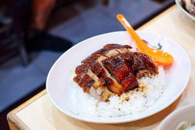 Roasted Goose with Rice