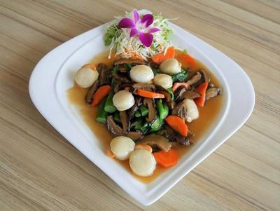 หอยเชลล์อบยอดผัก(เล็ก)