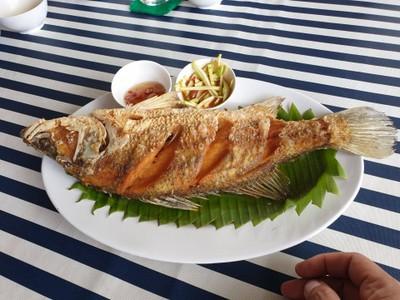 ปลากระะพงทอด