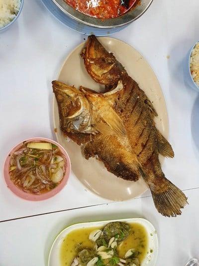 ปลากระพงทอดน้ำปลา##1