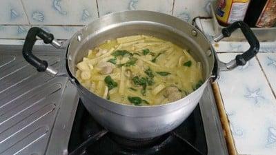 วิธีทำ แกงเขียวหวานหน่อไม้ไก่