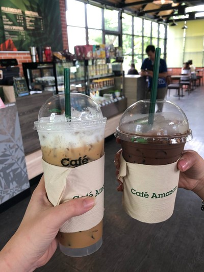 Cafe Amazon ปั๊มปตท. ปัว