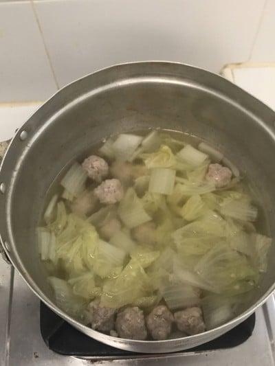 แกงจืดหมูสับผักกาดขาว