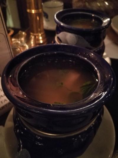 ต้มเป็ดมะนาวอบน้ำผึ้ง Glazed Lemon Duck Consomme