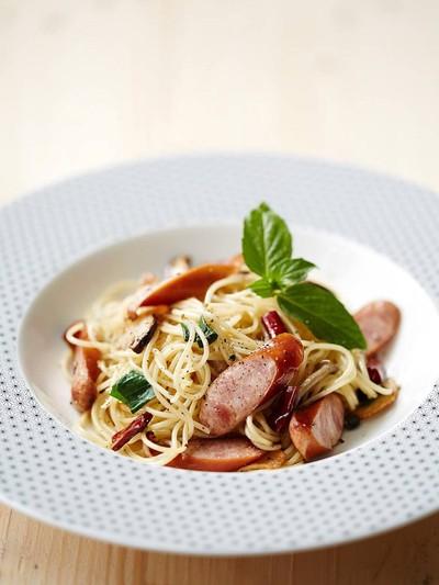 Capellini Olio Arabiki Sausage& Mushroom##1