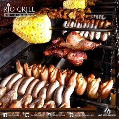 ห้องอาหารบราซิลเลี่ยน Rio Grill (ริโอกริลล์) โรงแรมเอเชียกรุงเทพ