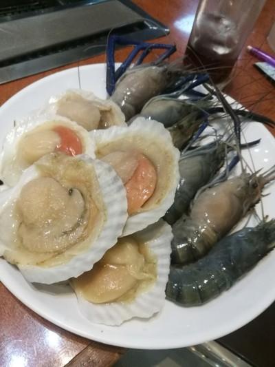 กุ้งใหญ่+หอยเชลล์