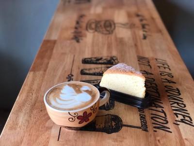 Hot Koffee Latte & Japanese Cheesecake
