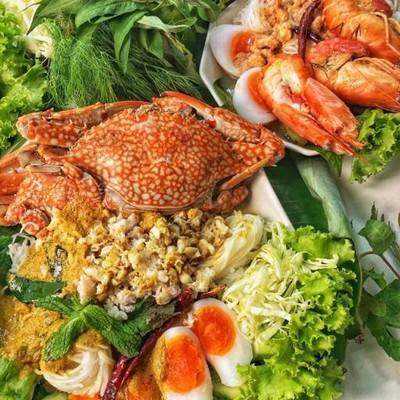 ครัวไทยบ้าน - ขนมจีนน้ำยาปู ขนมจีนน้ำยากุ้งแม่น้ำ Thai Baan The Kitchen - Rice Noodles with Crab Curry Rice Noodles in Shrimp Soup