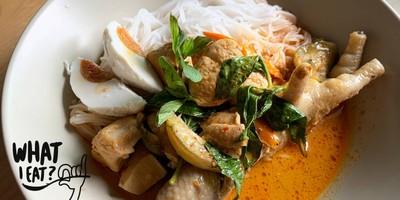 ขนมจีนแกงไก่ สูตรน้ำซุปคอลลาเจน