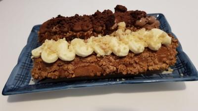 Chocolate & Vanilla Eclair