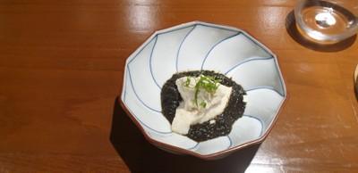 Yuki Tofu With Nori Sauce