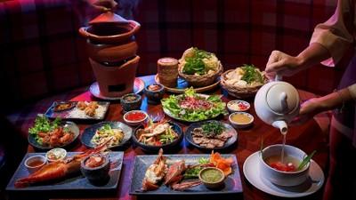 บุฟเฟ่ต์อาหารไทยจุก ๆ พิเศษกุ้งแม่น้ำตัวโต