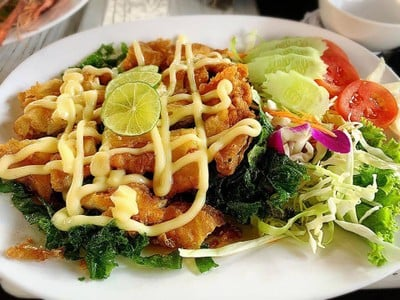 ไก่ทอดซอสมะนาว