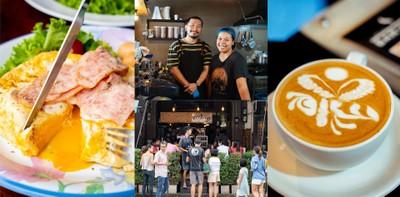 """Baroffee Cafe"" ร้านอาหารเช้าหาดใหญ่ จิบกาแฟ กินข้าว หน้าร้านตัดผม"