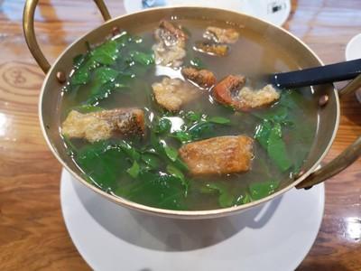ต้มผักหวานปลาสลิด