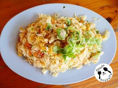 ข้าวผัดปูจานกลาง