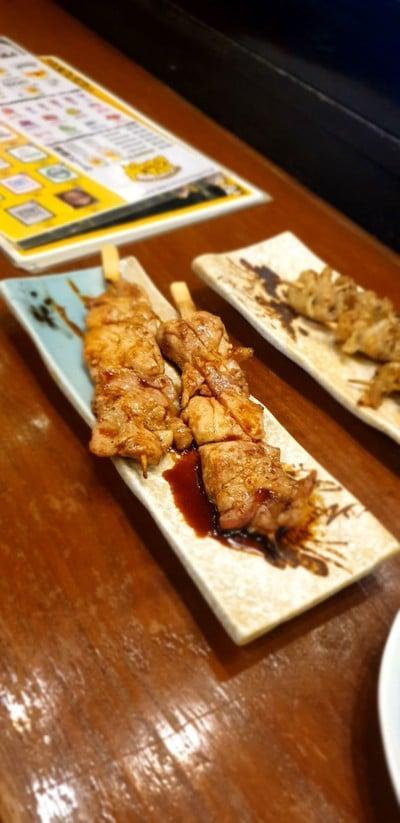 เนื้อไก่ เสียบไม้ย่าง (3 ไม้)