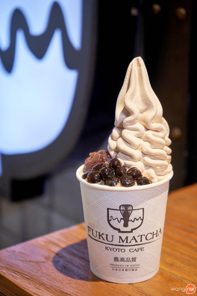 Black Milk Tea Soft Cream with Pearls and Red Bean##1