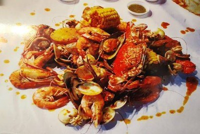 กุ้งซอส อาหารทะเลตามสั่ง (ต้นรักคาเฟ่)
