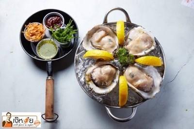 หอยนางรม ปูไข่ดอง กุ้งแม่น้ำ ยำ by เจ๊หอย ทองหล่อ