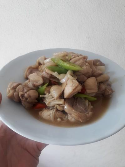 วิธีทำ ไก่ผัดพริก