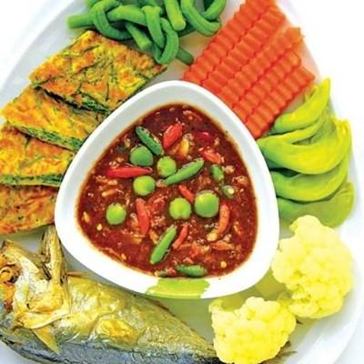 กับข้าวของแม่อาหารตามสั่ง/น้ำพริก(อิสลาม) (ติดลม โคขุน) ลาดพร้าว71
