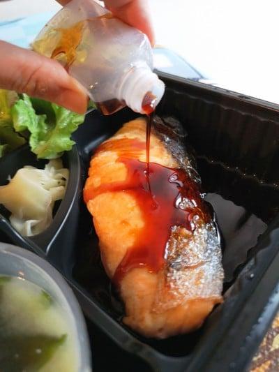 Salmon Teriyaki Setเซตปลาแซลมอนย่างซอสเทอริยากิ##1