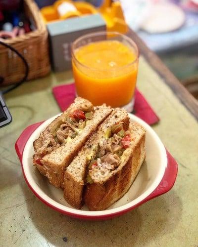 WFH Kitchen: Porky Cheese Steak Sandwich