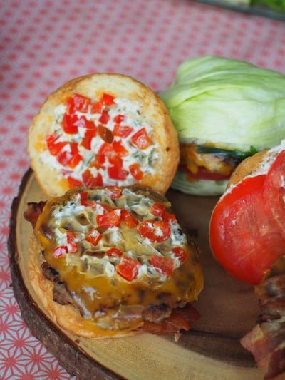 Burger X Bacon Pepper jam ( Pork ) (L)