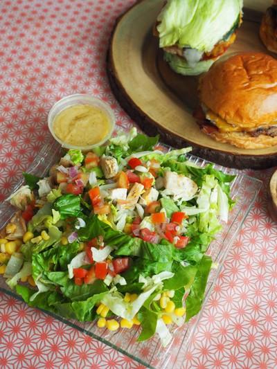 Grilled chicken salad served with signature citrus vinaigrette