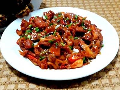 หมูผัดซอสเกาหลี/หมูผัดซอสโคชูจัง (อร่อยจนออปป้าติดใจ)