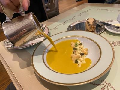 Roasted Pumpkin Soup with Sablé Nantais