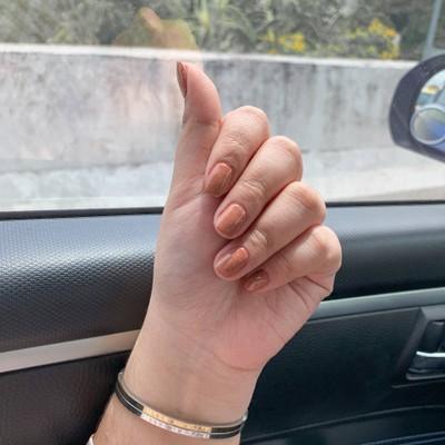 ละมุนมากกก บอกช่างว่าสีไรก็ได้ให้มือขาว ช่างเลยจัดสีนี้ให้ เหมาะกับมือเรามากๆ ค่