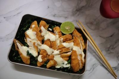 ไก่ทอดครีมมะนาว