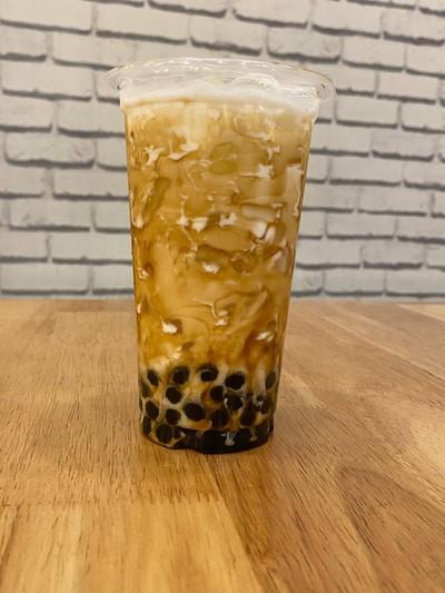 ราคาพิเศษ  milk lava soft pearl  brown sugar size L 2 แก้ว ราคา 90