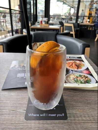 Orange Tonic coffee cold brew