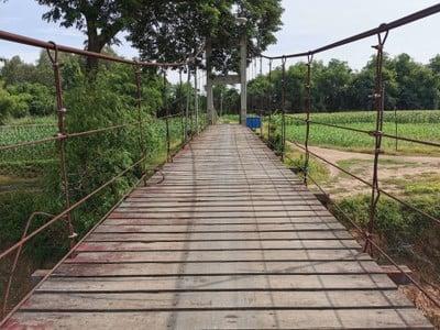 สะพานแขวน เกาะเทโพ