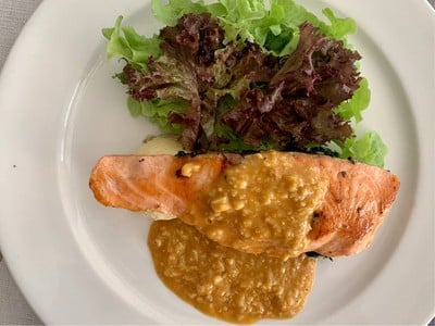 Salmon With Lobster Sauce