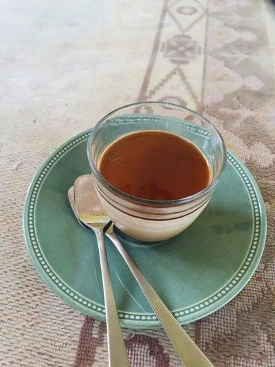 Hojicha pudding