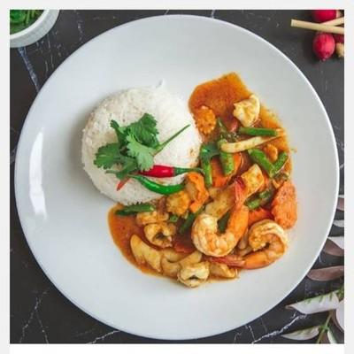 อาหารตามสั่ง Steak indy × Satay masala (สเต็กอินดี้ × สะเต๊ะ) ลาดพร้าว 87