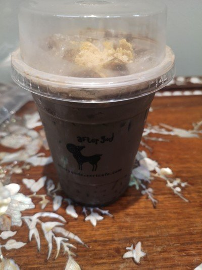 Hojicha Soy Latte With Brown Sugar Jelly##1