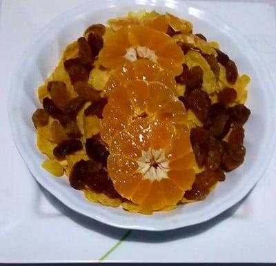 คอร์นเฟล็กส้มแป้นนมสด