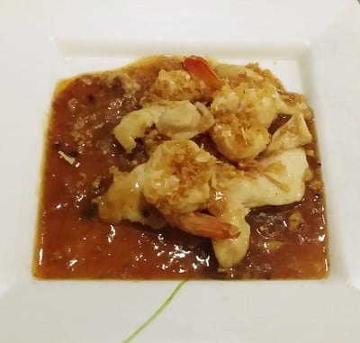 กุ้งไก่ทอดกระเทียมพริกไทย